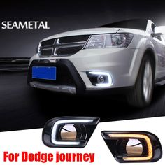 89.99$  Watch here - http://alirph.worldwells.pw/go.php?t=32682903418 - For Fiat Freemont Dodge Journey 2014 2015 2016 Car DRL LED Daytime Running Light Turn Lamp Waterproof Decoration Accessories