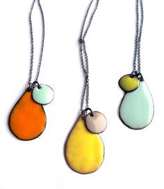 Pastels! dotty enamel necklaces
