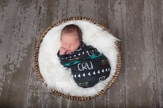 Personalized baby swaddle blanket - Custom Design printed on Jersey Knit fabric- AZTEC AND ARROWS design
