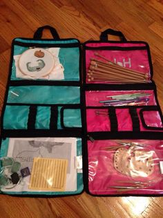 Thirty-One Timeless Beauty Bag... Use it to hold crochet needles and cross stitching supplies! :)