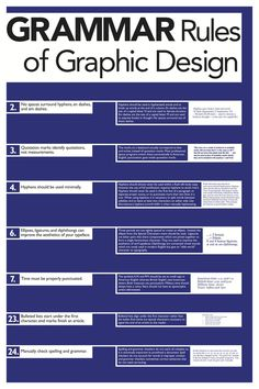 Grammar Rules of Graphic Design, series by Jeremy Moran, via Behance #infographics
