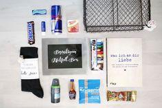 Die Survival/Notfall-Box für den Bräutigam Inhalt