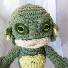 The Creature from the Black Lagoon amigurumi - CRAFTSTER CRAFT CHALLENGES