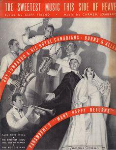 "1934 Rare Title George Burns & Gracie Allen ""Sweetest Music"" Movie Sheet Music"