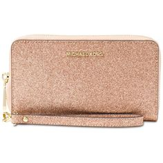 8db1981e62ea Michael Michael Kors Large Flat Multifunction Phone Case ($118) ❤ liked on  Polyvore featuring accessories, tech accessories, rose gold and michael kors