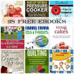 28 FREE EBOOKS: Best Bread Recipes, The Vegetable Gardening Guide + More!