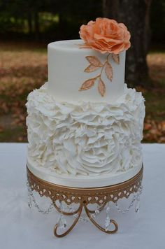 Old Hollywood glamour wedding cake - Cake by Elisabeth Palatiello