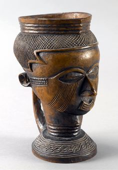 Africa | Palm wine cup from the Kuba people of DR Congo | Wood //