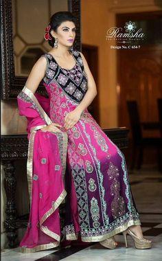BRAND NEW Indian Bollywood Anarkali Shalwar Kameez Unstitched Dress