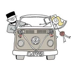 New campervan design with wedding bows on!