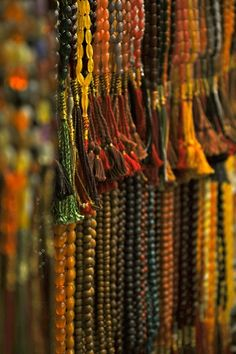 A variety choice of prayer beads