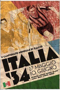 Affiche de la Coupe du Monde de 1934 en Italie !