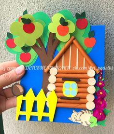 summer paper crafts for kids lavoretti coutry house Animal Crafts For Kids, Summer Crafts For Kids, Paper Crafts For Kids, Easter Crafts, Art For Kids, Fall Arts And Crafts, Creative Arts And Crafts, Easy Preschool Crafts, Art N Craft