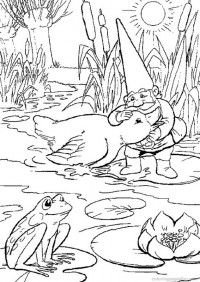 coloring page david the gnome - Gnome Coloring Pages 2