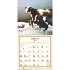 Cow Calendar January 2020 7 Best CALENDARS images in 2018 | 12 month calendar, Calendar 2017