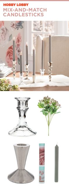 Home Interior Boho Say goodbye to boring centerpieces with mix-and-match candlesticks. Home Decor Styles, Home Decor Items, Cheap Home Decor, Cheap Party Decorations, Interior House Colors, Best Candles, Victorian Homes, Candlesticks, Colorful Interiors