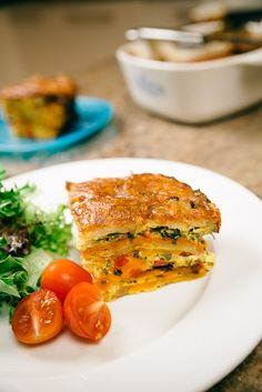 Roasted potato, sweet potato and pumpkin layered with onion, capsicum and fresh parsley, held together with eggs, a tiny bit of milk and grated tasty cheese. How To Dry Rosemary, How To Dry Oregano, Roasted Potatoes, Roasted Vegetables, Vegetable Frittata, Salmon Burgers, Parsley, Sweet Potato, Onion