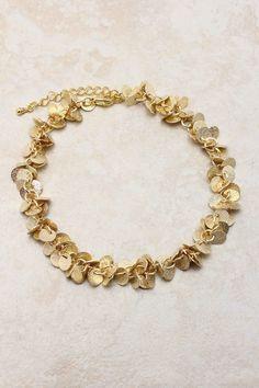 Gold Flake Bracelet on Emma Stine Limited