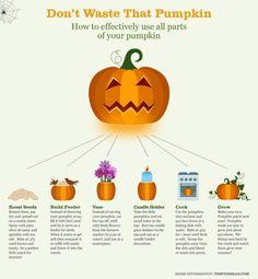 Organic Pumpkin, Don't Waste That Pumpkin #Infographic