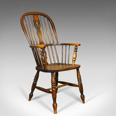 Windsor Elbow Chair C.1910 Antique Rocking Chair Edwardian Country Kitchen