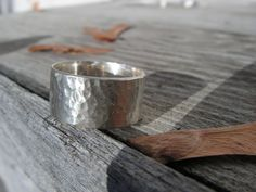 Hammered Silver Ring - Size 8