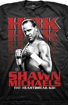 f96ade4ae Heartbreak Kid Shawn Michaels T-Shirt Officially Licensed WWE Men's T-shirt  - Big and Tall Sizes Available