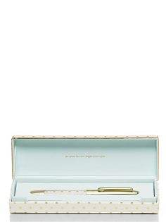 $29.95 New Kate Spade New York She Wrote Her Own Happily Ever After Ballpoint Pen NIB #KateSpade