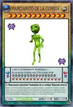 Marcianito de la cumbia xD // cartas meme v: