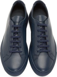 77a09d278b4 Common Projects Navy Original Achilles Sneakers Common Projects