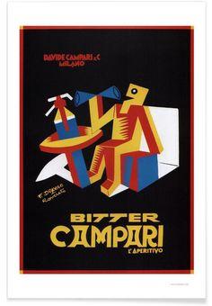 Campari as Premium Poster by Vintage Art Archive | JUNIQE
