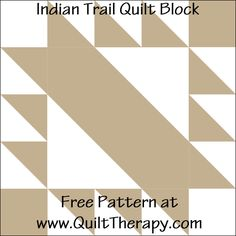 Quilt Therapy – Saving Sanity through Quilt Therapy – One Stitch at a Time Block Patterns, Pattern Blocks, Quilt Patterns, Block Quilt, Quilt Top, Half Square Triangles, Squares, Southwest Quilts, Indian Trail