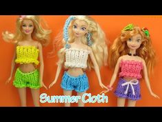 Loom Bands Summer Cloth Frozen Elsa, Anna, Barbie Wearable - How to | Elegant Fashion 360 - YouTube