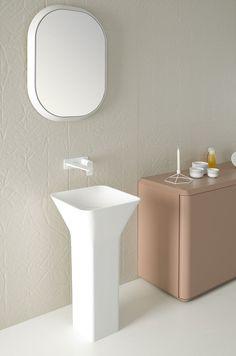 Fluent collection by Inbani. Detail. #bathroom #furniture #design