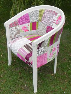Shabby Chic Patchwork Tub Chair by Katie Moore designers guild fabrics