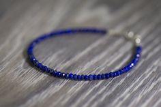 Lapis Lazuli Bracelet/September Birthstone/Blue Lapis