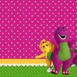 Barney – Kit Completo com molduras para convites, rótulos para guloseimas, lembrancinhas e imagens!