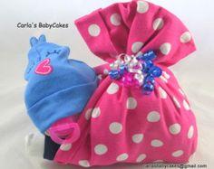 Diaper stork bundle Baby Shower Gift Baby by MsCarlasBabyCakes