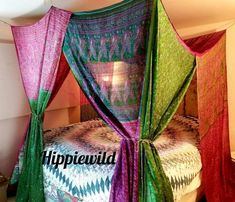 Patchwork Curtains, Bohemian Curtains, Bohemian Decor, Purple Curtains, Room Ideas Bedroom, Bedroom Decor, Shabby Chic Shower Curtain, Gypsy Bedroom, Ceiling Hooks