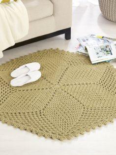 Seasons Rug - Free crochet rug pattern from Spotlight.