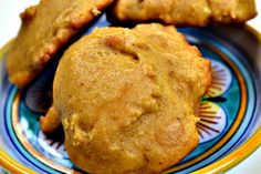low cal pumpkin cookies... I made a batch today and used 1/2 cup splenda & 1/2 cup sugar, instead of the whole cup sugar. I also added mini chocolate chips to the last half dozen... for a little something extra!