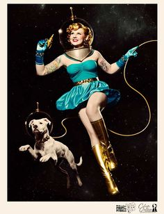 We Chat With the Woman Behind Pinups for Pitbulls | Dogster - THIS would be the perfect Tattoo. ;)
