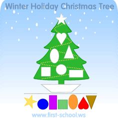 FREE Christmas Tree Theme printable activities and crafts for preschool. Kindergarten to 2nd grade.