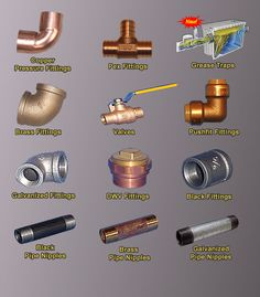 1000 images about copper plumbing on pinterest plumbing for Copper water pipe fittings types