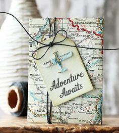 Emballage original pour un cadeau d'anniversaire pour les voyageurs