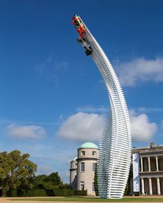 gerry judah sends mazda racers to the sky at the goodwood festival of speed