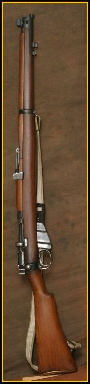 The Lee-Enfield bolt-action, magazine-fed, repeating rifle was the main firearm used by the military forces of the British Empire during the first half of the 20th century.