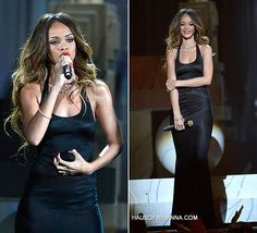 Rihanna performed in vintage Azzedine Alaïa at the 55th Annual Grammy Awards.