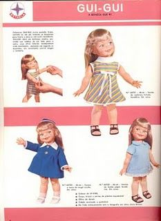 Scrap da Ana Caldatto: Boneca Gui-Gui da Estrela - Vintage Doll 1968 e 1974