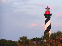 St Augustine lighthouse at sunset.
