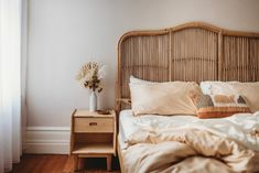 Natural Marley Rattan Bedhead by Palm Cove Living. Get it now or find more Bedheads at Temple & Webster. Dream Bedroom, Bedroom Wall, Bedroom Decor, Boudoir, Bedroom Inspo, Bedroom Ideas, Bedroom Layouts, Bed Styling, My New Room